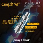 Aspire Atomizzatore K1 Plus 16mm